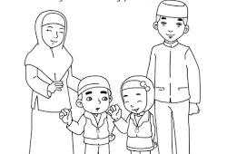 Catatanku Anak Desa Gambar Keluarga Untuk Mewarnai