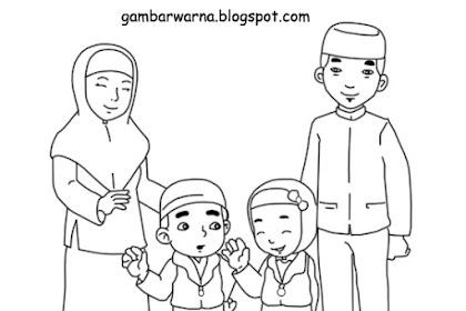 Mewarnai Gambar Foto Keluarga