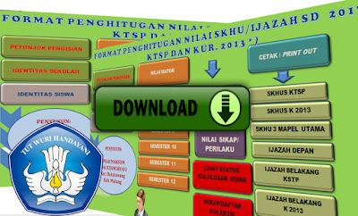 Download Aplikasi SKHU 2017 Kurikulum 2013 dan KTSP Plus Nilai Ijazah