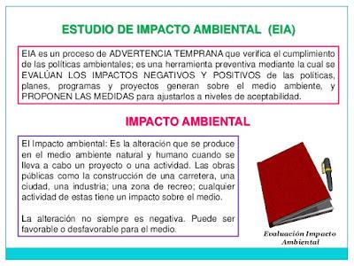 Conceptos Claves para el Estudio de Impacto Ambiental