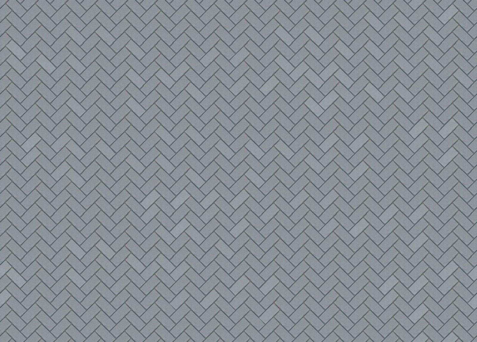 Gray Herringbone Tile Kitchen Floor