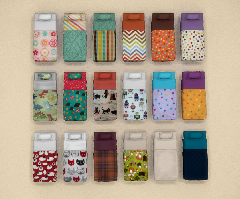 My Sims 4 Blog Toddler Mattress Recolors By Merry Sims