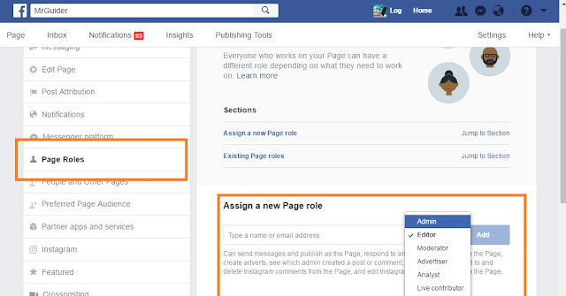 assign%2Bpage%2Broles%2Bfor%2Bfacebook%2527s%2Bpage2 How To Assign Your Facebook's Page Roles Like Admin,Editor,Author,Advertiser,Analyst,Moderator,Live Contributor Android
