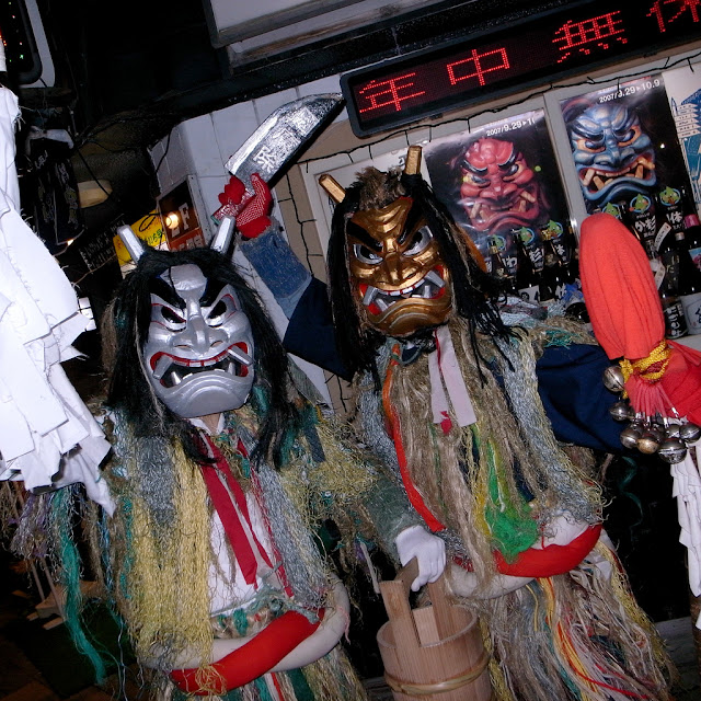 Namahage, or folklore demons in Oga, Akita Pref.