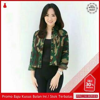 RRC118M24 Mini Terbaru Seoul Army Jacket Wanita Terbaru BMGShop