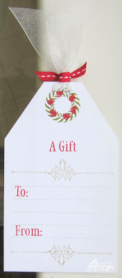 Christmas Tag Reverse - Photo by Deborah Frings - Deborah's Gems