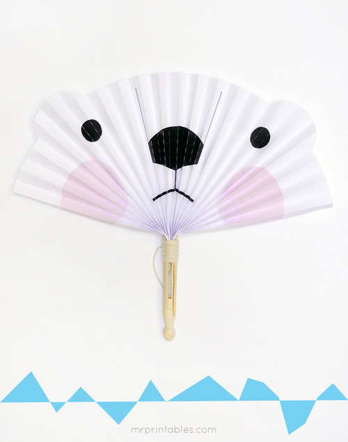 My Owl Barn: DIY Paper Fans of Icy Arctic Animals