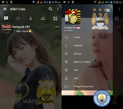 BBM MOD Manchester City Versi Terbaru with Change Background v3.0.25 APK