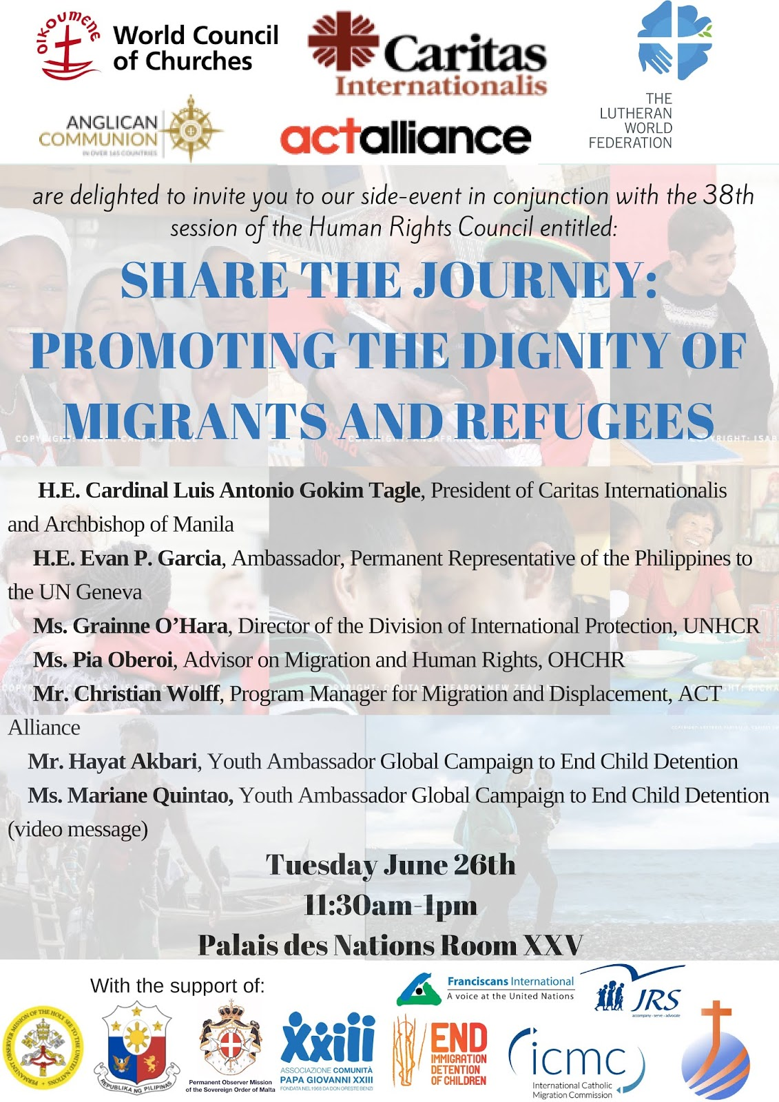 Invitation, DIGNITY OF MIGRANTS, UN
