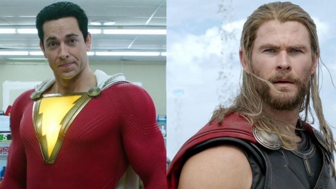 Zachary Levi fala sobre quem venceria em uma luta entre Shazam e Thor