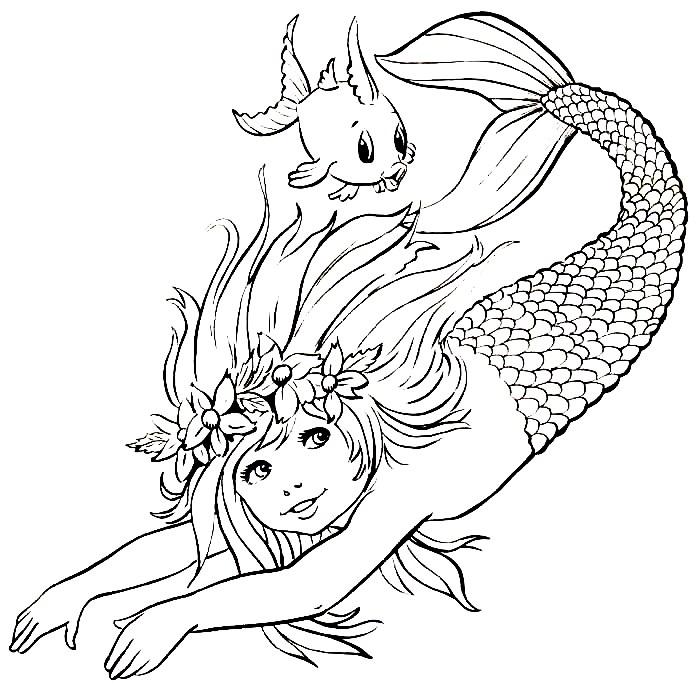 30 Desenhos De Sereias Iara Para Colorir Mais De 500 Atividades