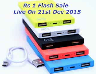 Paytm - SUICH Power Bank At Just Rs.1 [Flash Sale Live At 21.Dec]