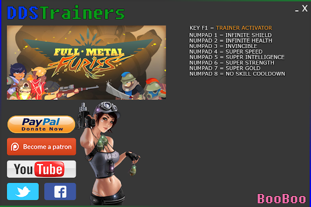 Full Metal Furies Trainers and cheats for PC