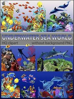 Sea PNG imagens fundo do mar
