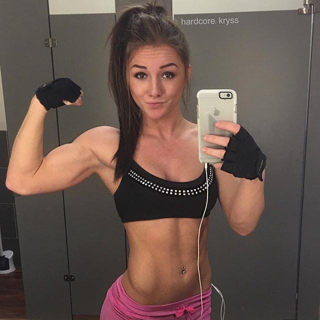 young Female fitness model Kryss DeSandre