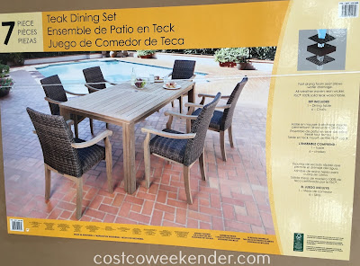 Costco 1031565 - Teak Dining Set: great for any backyard or patio