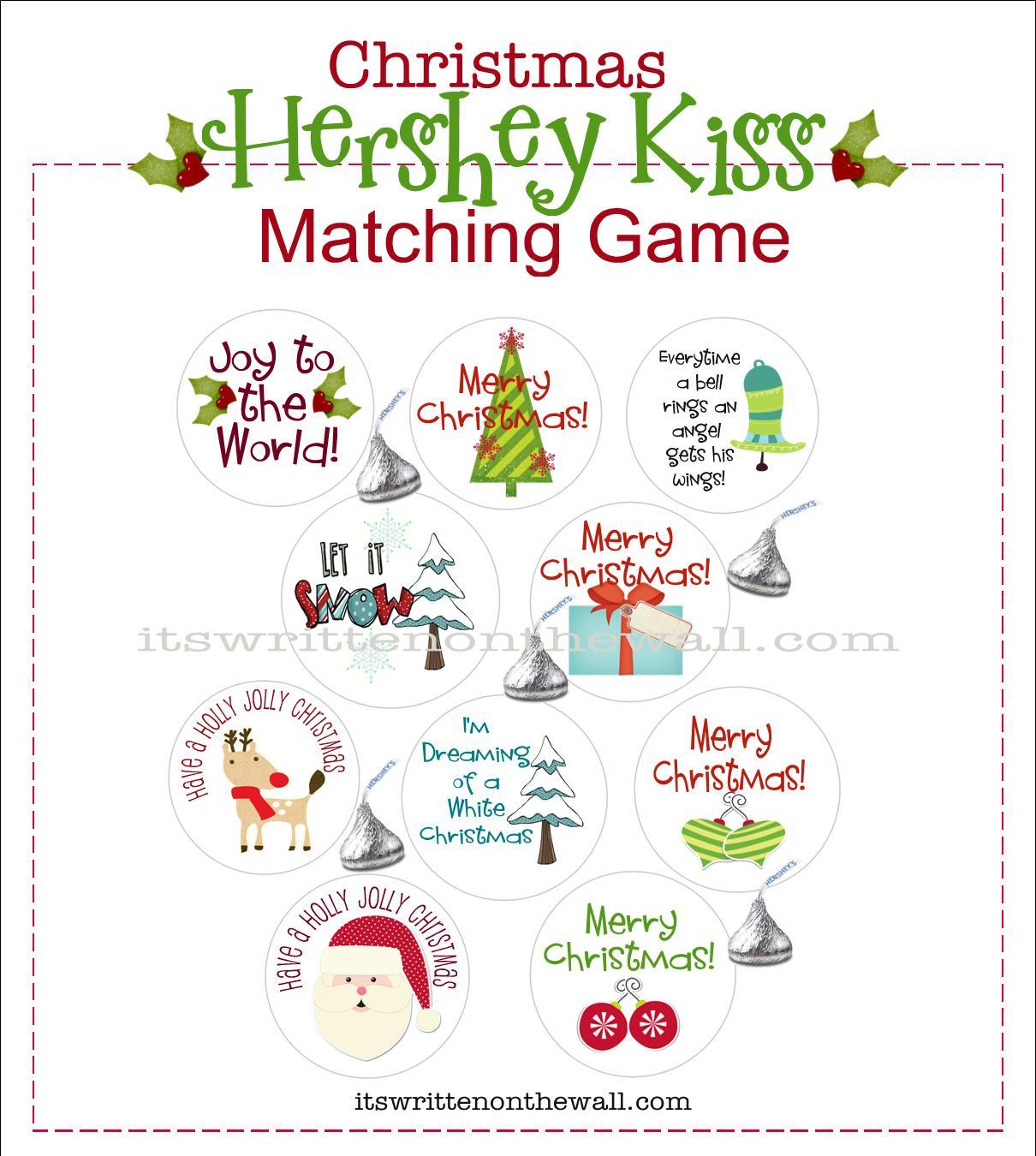 Freebie Yummy Christmas Game For The Kids Hershey Kiss