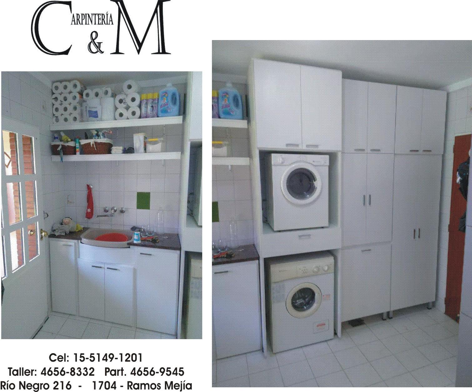 C m carpinter a amoblamientos para lavaderos for Amoblamientos para lavaderos