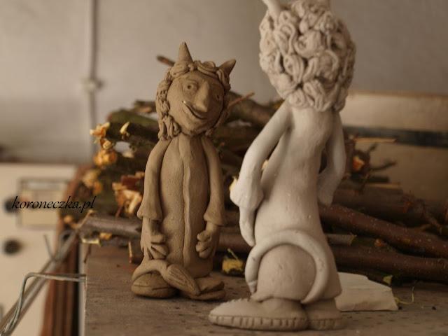 Ceramiczne figurki - dwa diabły