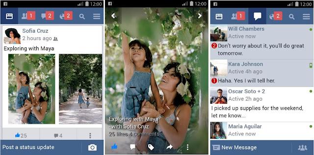 Facebook Lite Screenshots