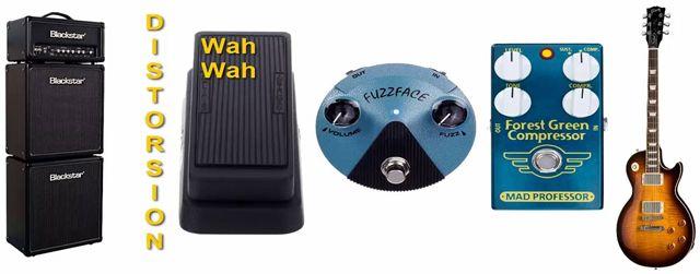 Colocación en Cadena de Efectos del Wah Wah, Fuzz y Compresor