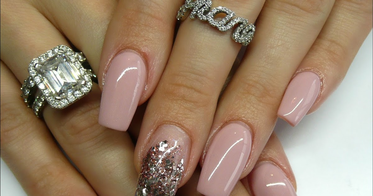 Luminous Nails: Pinky Nude & Rose Gold, Acrylic & Gel Nails