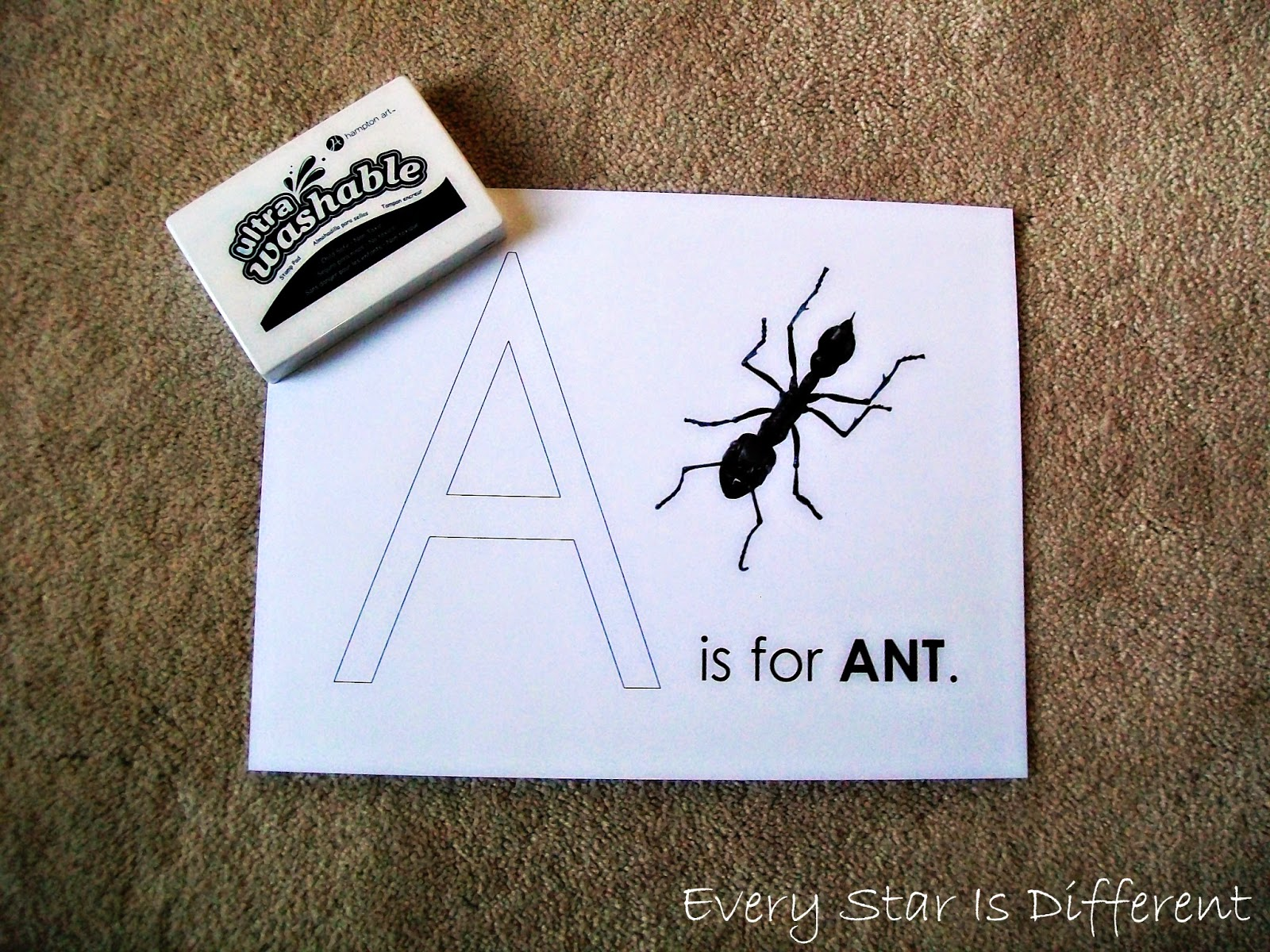 A is for Ant Activity for Kids (Free Printable)