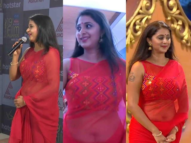 Kaniha Hot Saree Navel Photos
