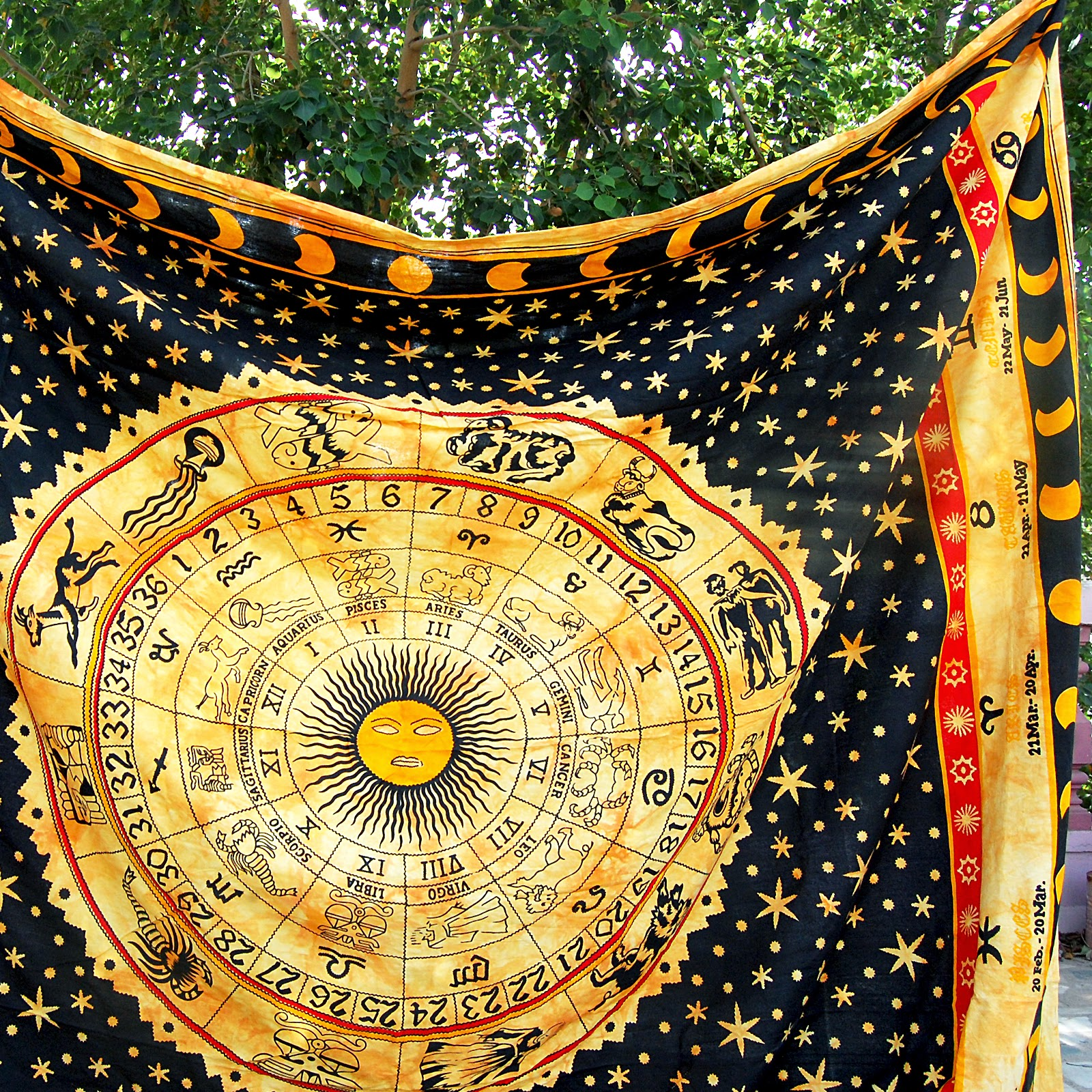 Hippie Tapestries, Mandala Tapestries, Queen Boho Tapestries, Wall ...