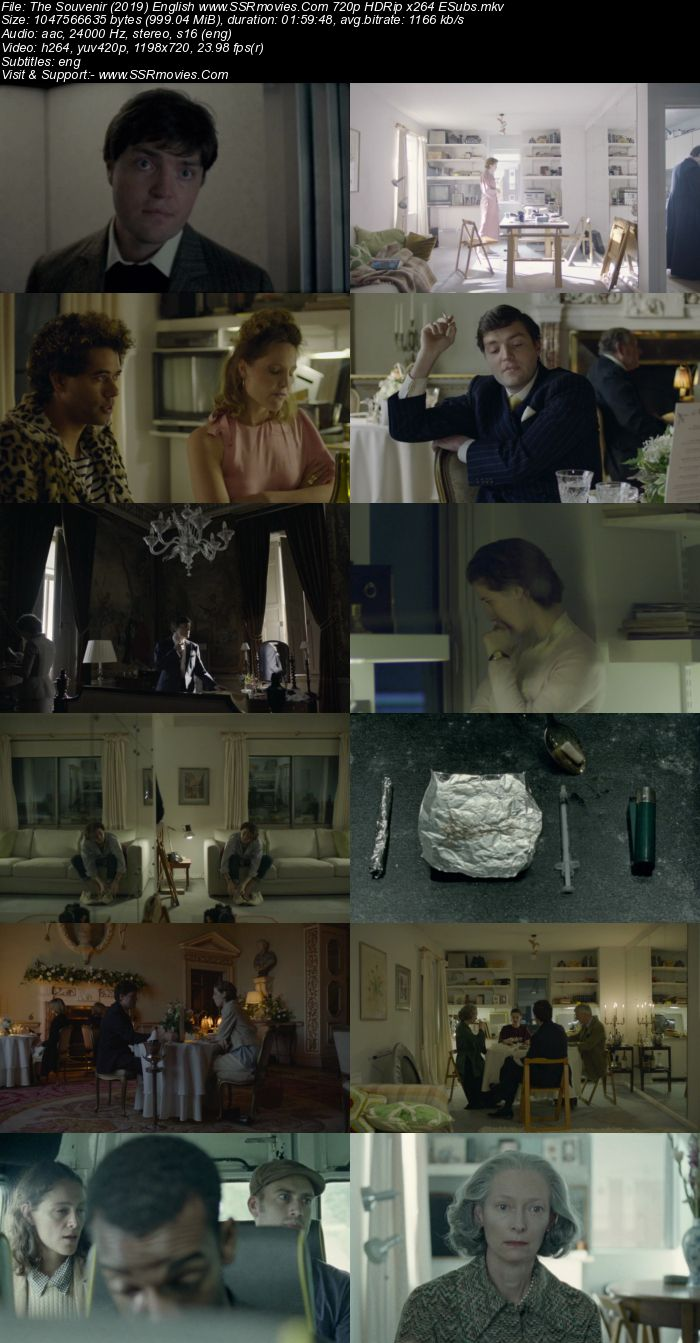 The Souvenir (2019) English 480p HDRip x264 350MB ESubs Movie Download