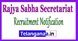 Rajya Sabha Secretariat Recruitment Notification 2017