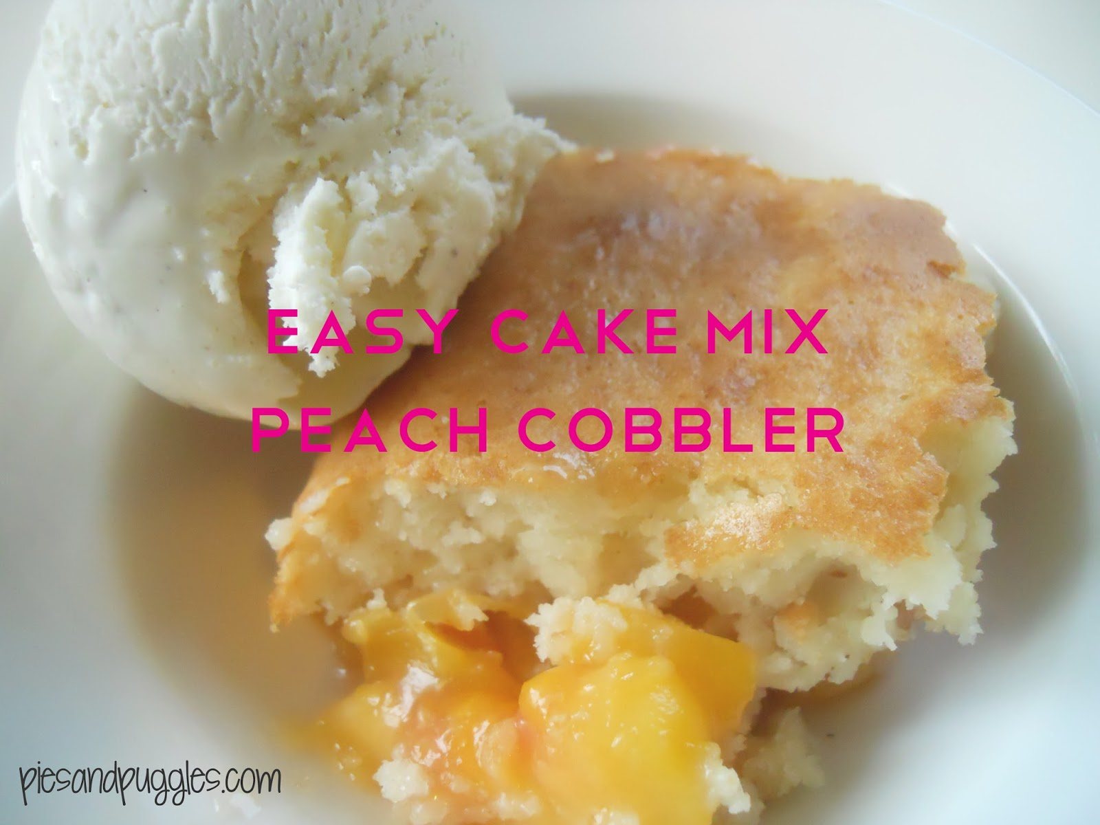 Cake Mix Peach Cobbler Easy Recipe