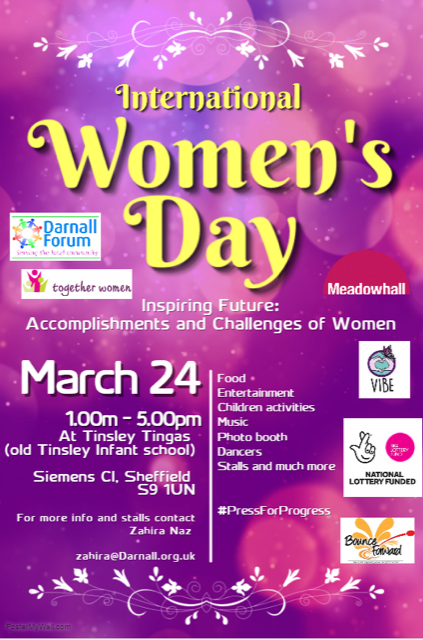 Tinsley International Women's Day event 10 - 5 March 24 at Tinsley Tingas