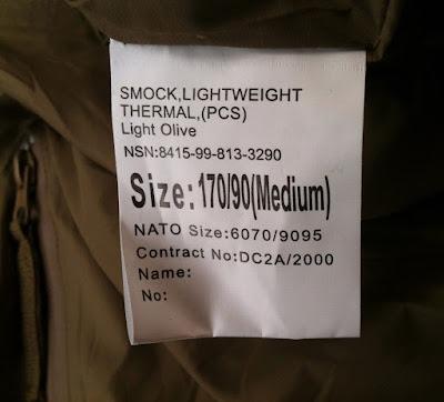 Smock Lightweight Thermal (PCS) Light Olive