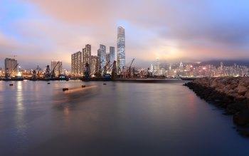 Wallpaper: Sunset in Hong Kong