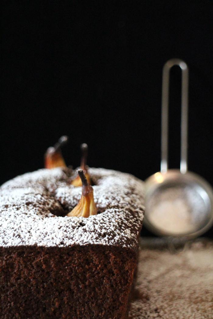 bizcocho-de-cacao-con-peras, cocoa-pear-cake