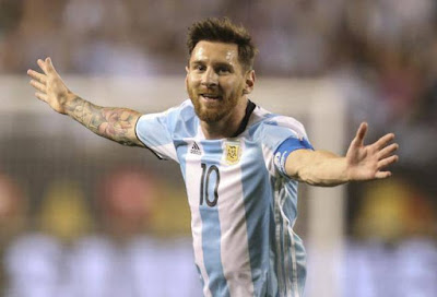 Messi  jugar con Argentina