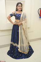 Niveda Thomas in Lovely Blue Cold Shoulder Ghagra Choli Transparent Chunni ~  Exclusive Celebrities Galleries 050.JPG