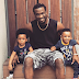 Rudeboy poses alongside his twins Nathan and Nadia in latest shooting(Photos)