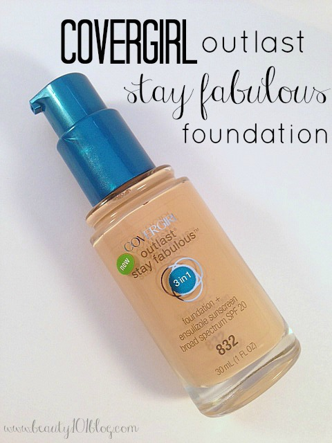 Review Covergirl Outlast Stay Fabulous 3 In 1 Foundation Beauty 101