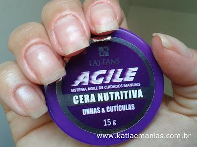 Agile Lattans, Cera Nutritiva, Cuidado com as unhas,