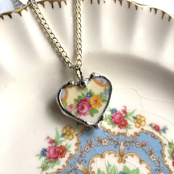Broken plate necklace by Laura Beth Love