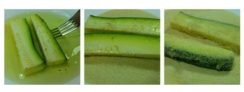 Calabacines rebozados al horno