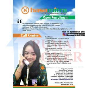 Lowongan Kerja Call Center di BPR Hasamitra