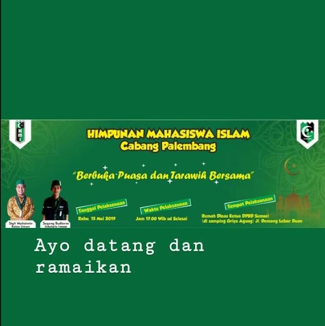 Bukber HMI Palembang Bersama Ketua DPRD Provinsi Sumsel