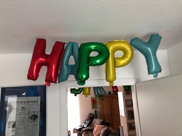 Dekoration zum Geburtstag von Pascal