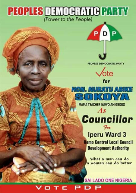 Aged woman contests ward councillorship in Ogun State