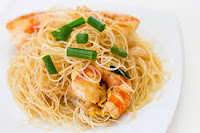 Asian Noodles with Shrimp and Vegetables Recipe | Healthy Sea Foods Vegetables Recipe