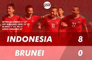 Video Gol Brunei vs Indonesia 0-8 AFF U-18 2017 Myanmar