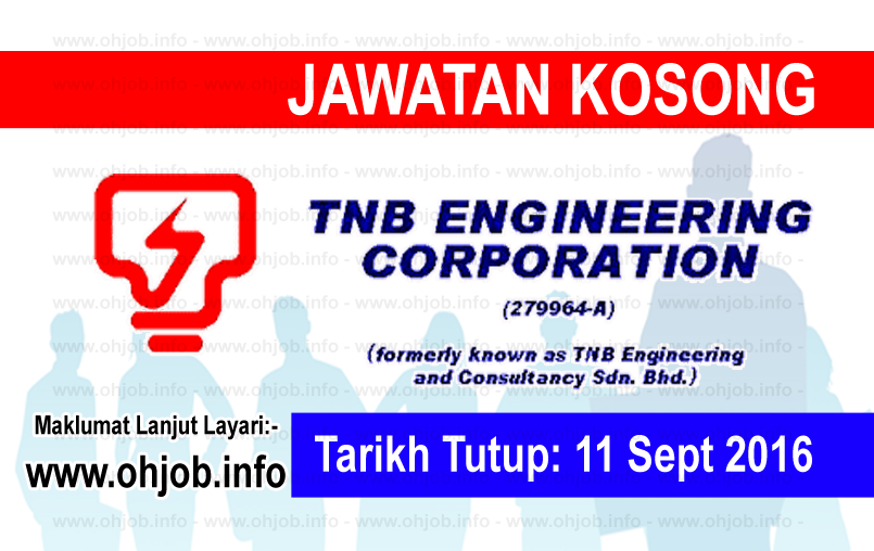 Jawatan Kerja Kosong TNB Engineering Corporation logo www.ohjob.info september 2016
